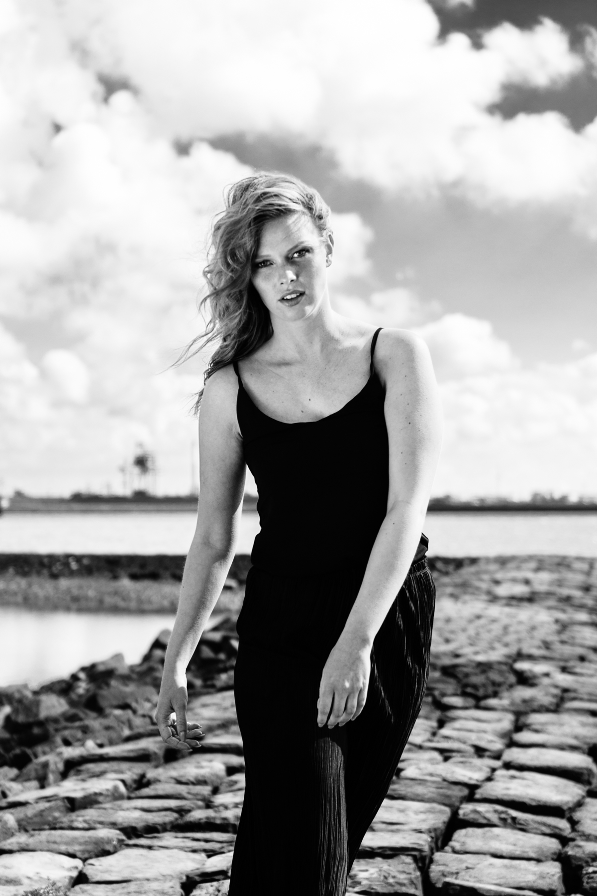 Fashion photoshoot at Hoek van Holland