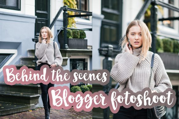 Behind the scenes, blogger fotoshoot