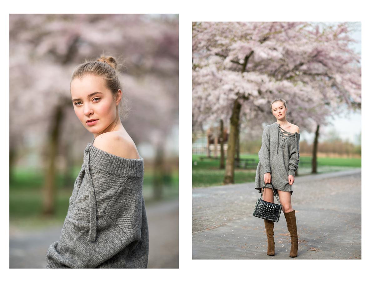 Fotoshoot, Westerpark, kersenbloesem