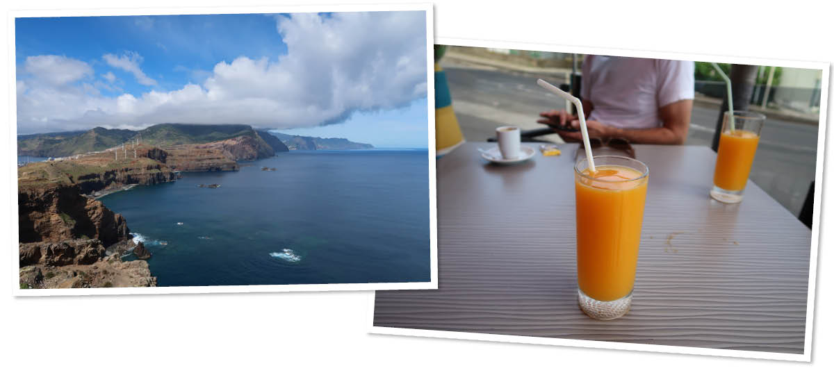 Madeira, orange juice