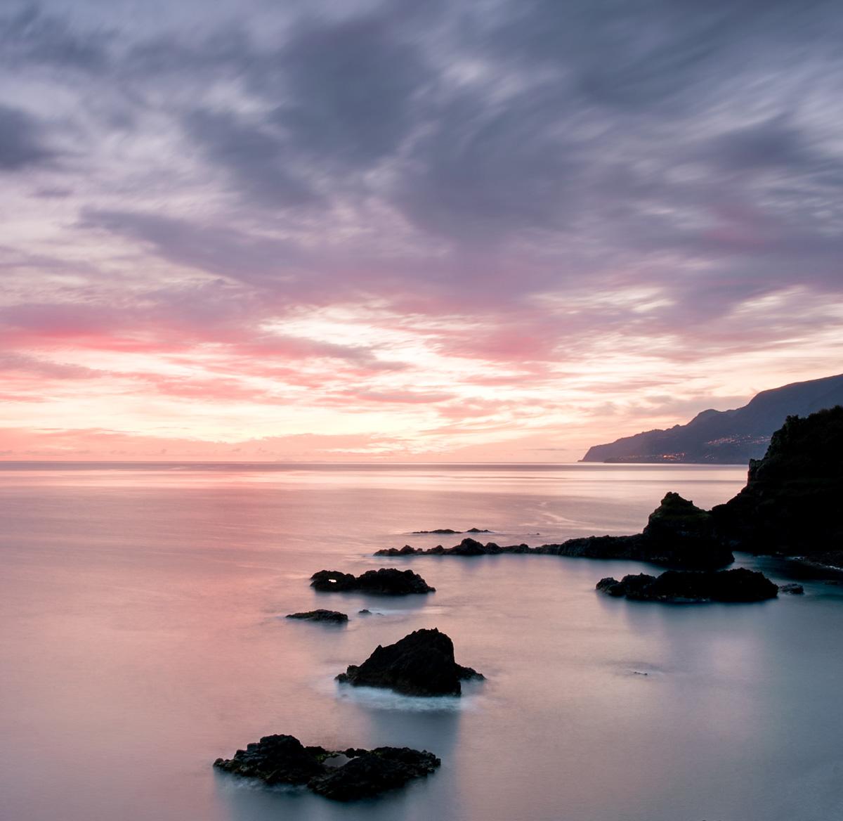Seixal, sunrise, Madeira