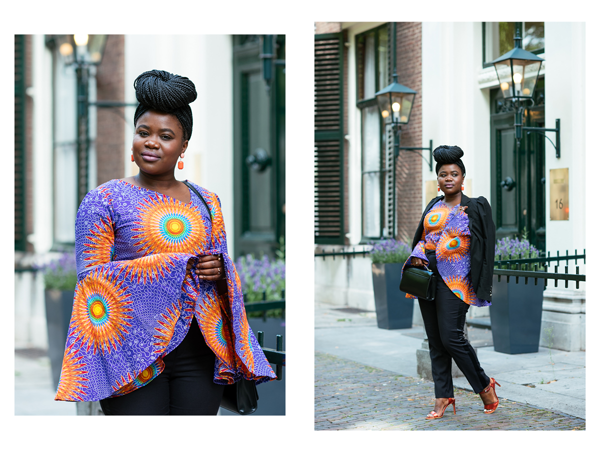 Colorful African print outfit