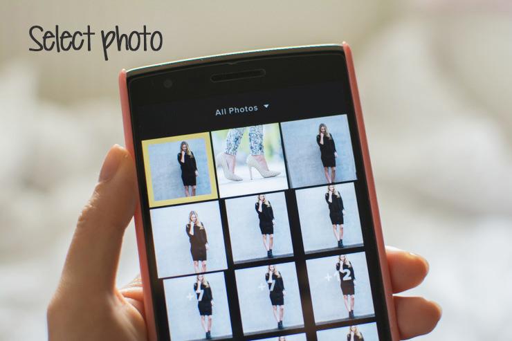 Select photo in VSCOcam