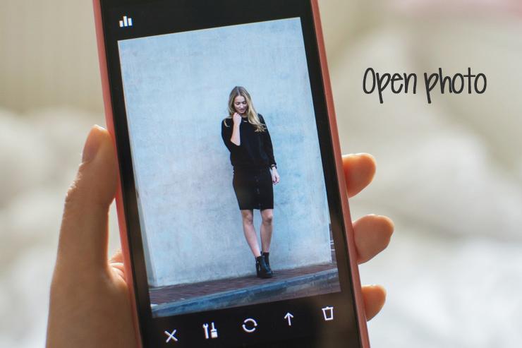 Open photo in VSCOcam