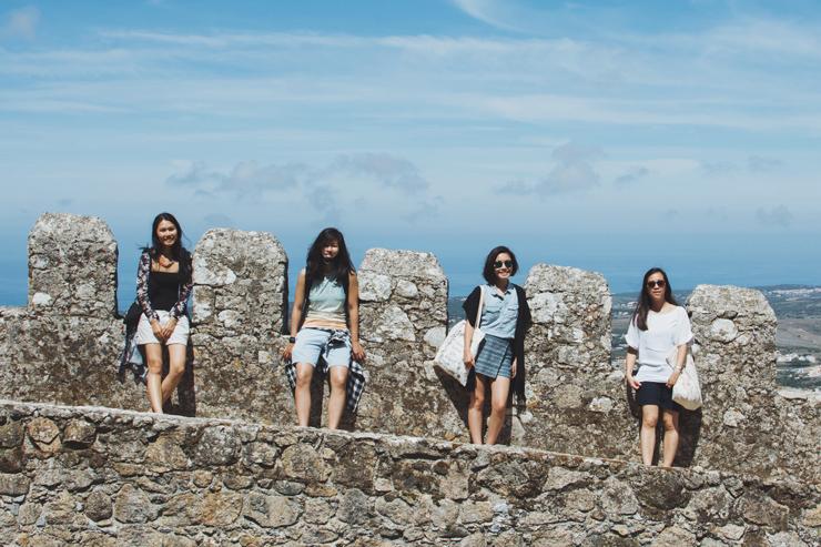 Sintra castle friends, ph by José Chan