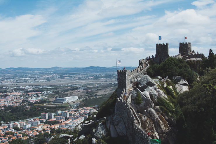 Sintra castle wall and view, ph by José Chan