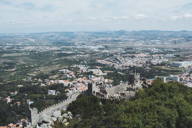 Sintra castle wall view, ph by José Chan