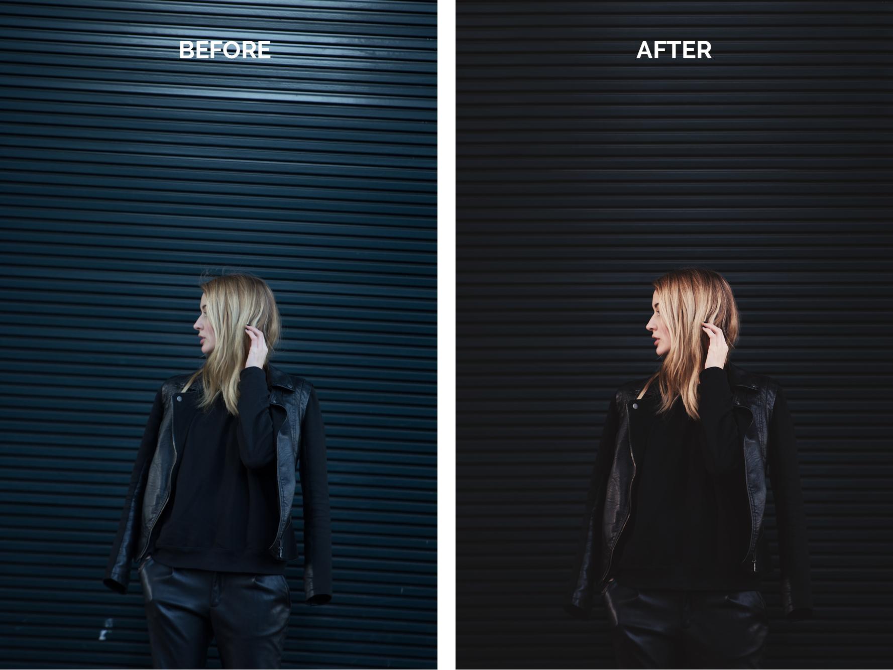 Rachel outfitfoto's, voor en na