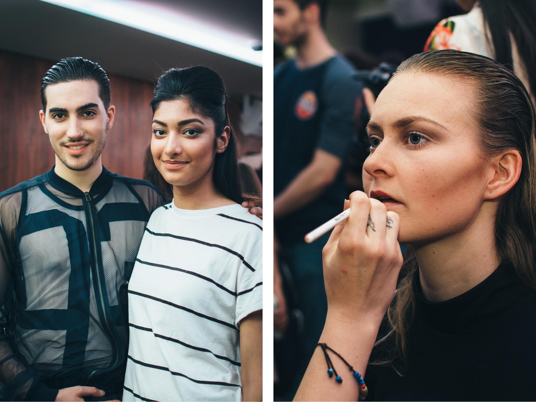 Backstage, New Fashion Society Fashion Show, photo by José Chan