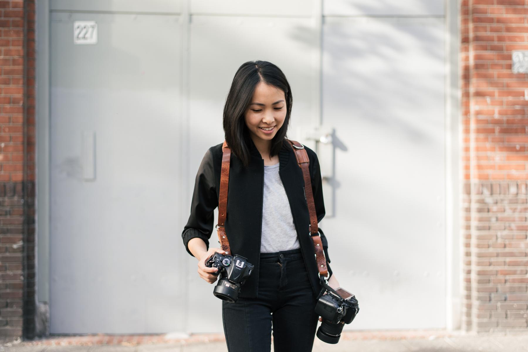 HoldFast Money Maker camera strap woman