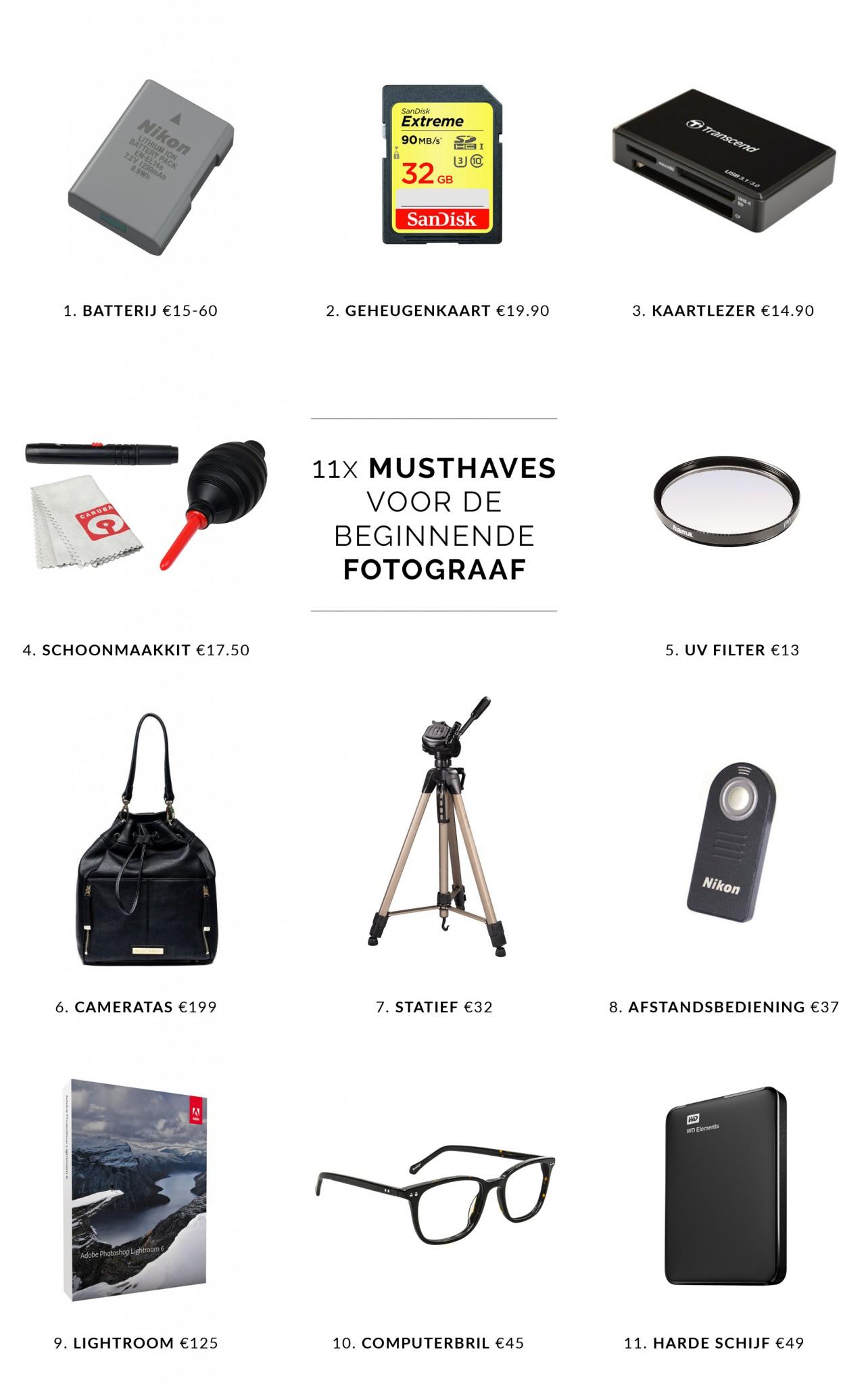 11 Musthaves voor de fotograaf